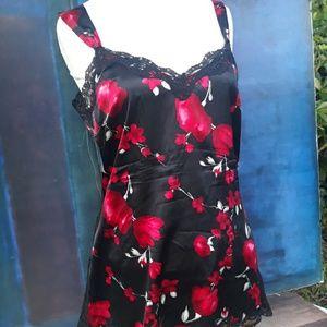 White House Black Marke red floral tank medium